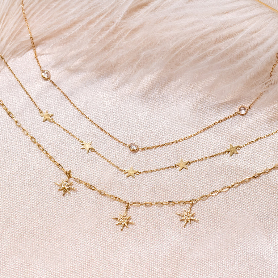 10k Fine Starburst Necklace