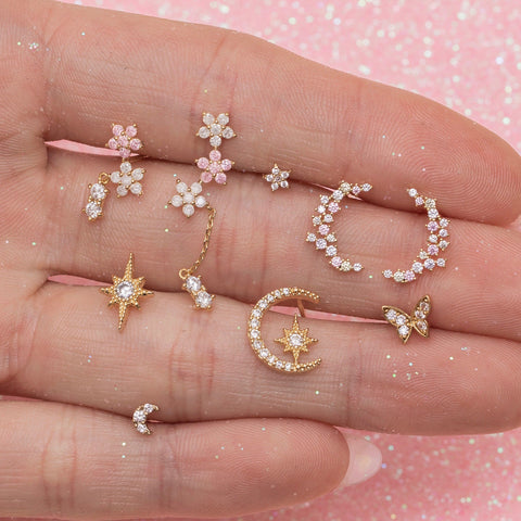 Teeny Tiny Moon Studs