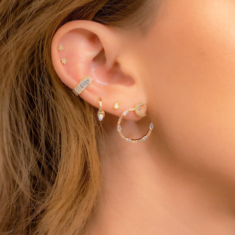 Shooting Moon and Star Earrings