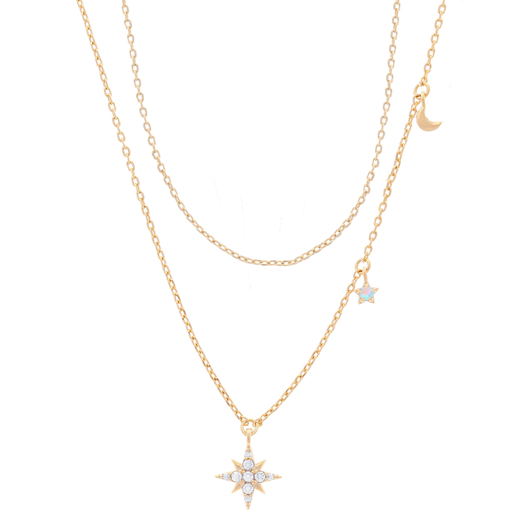 Twilight Layered Necklace : Gold