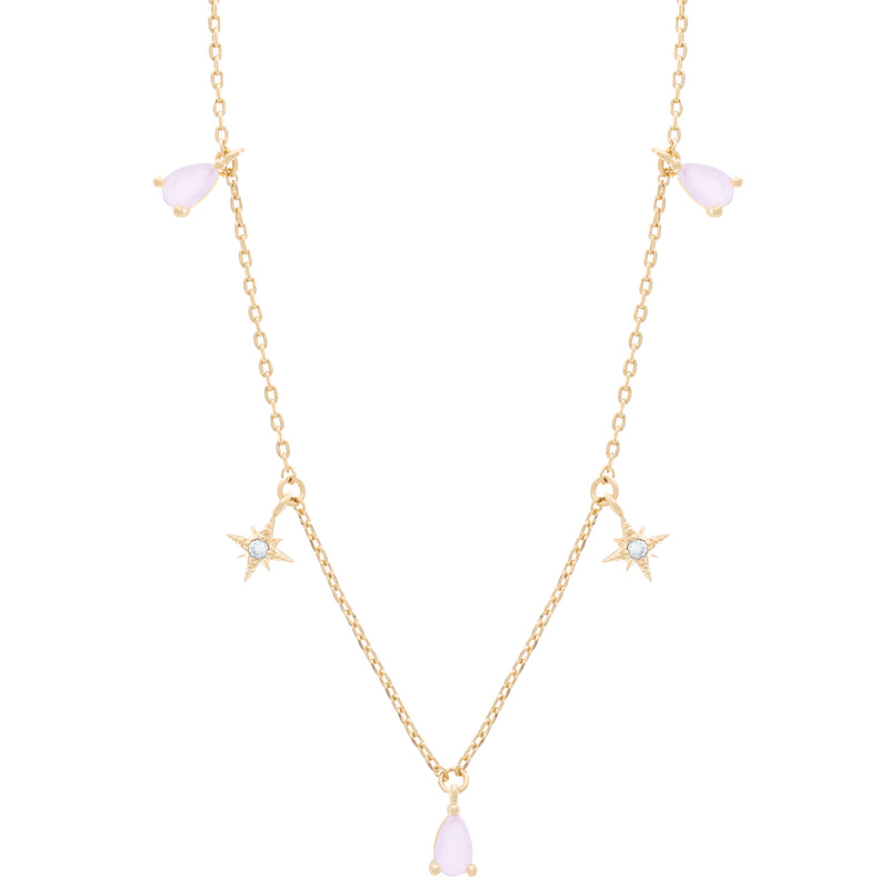 Bubblegum Dangle Necklace : Gold