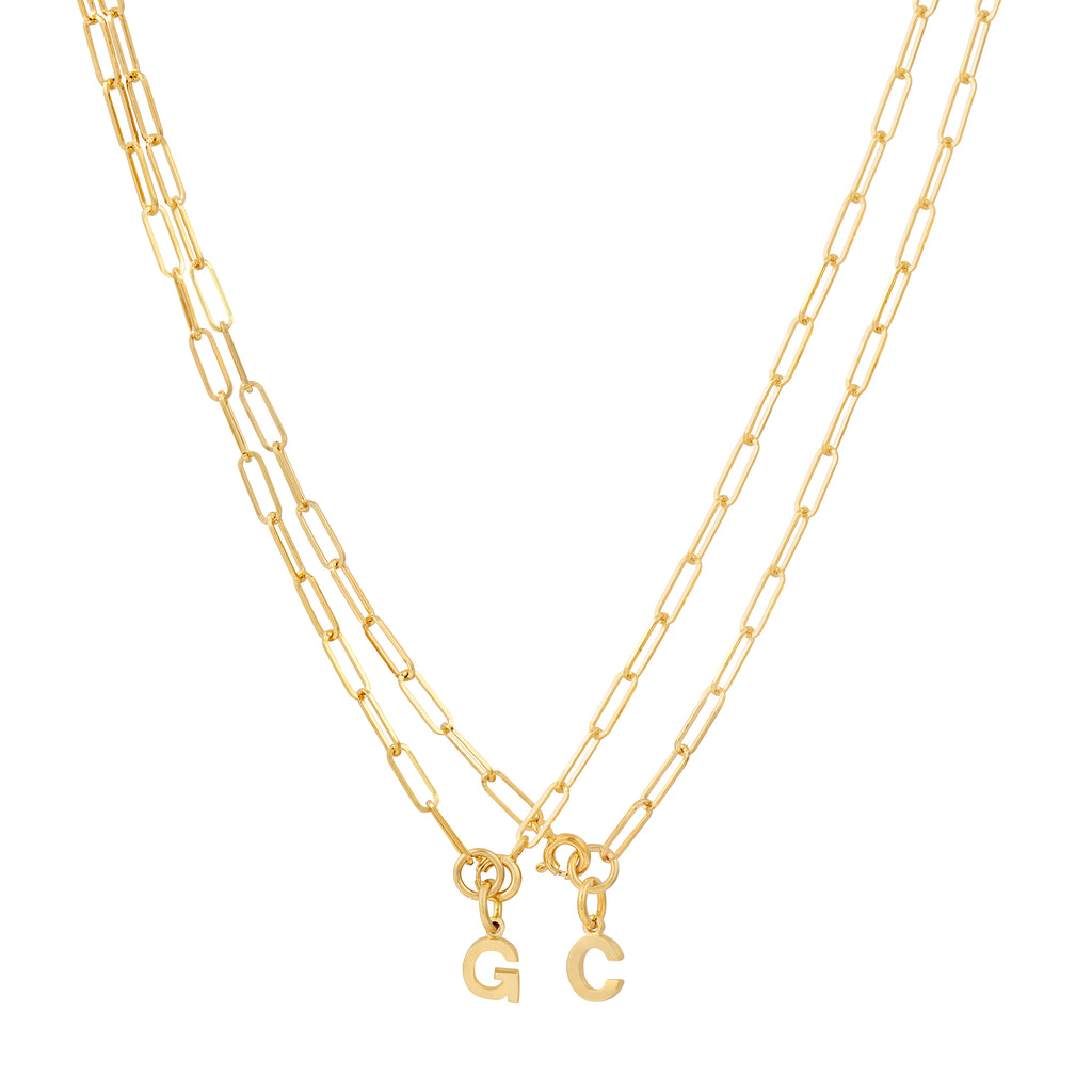 Mini Linked Initial Necklace