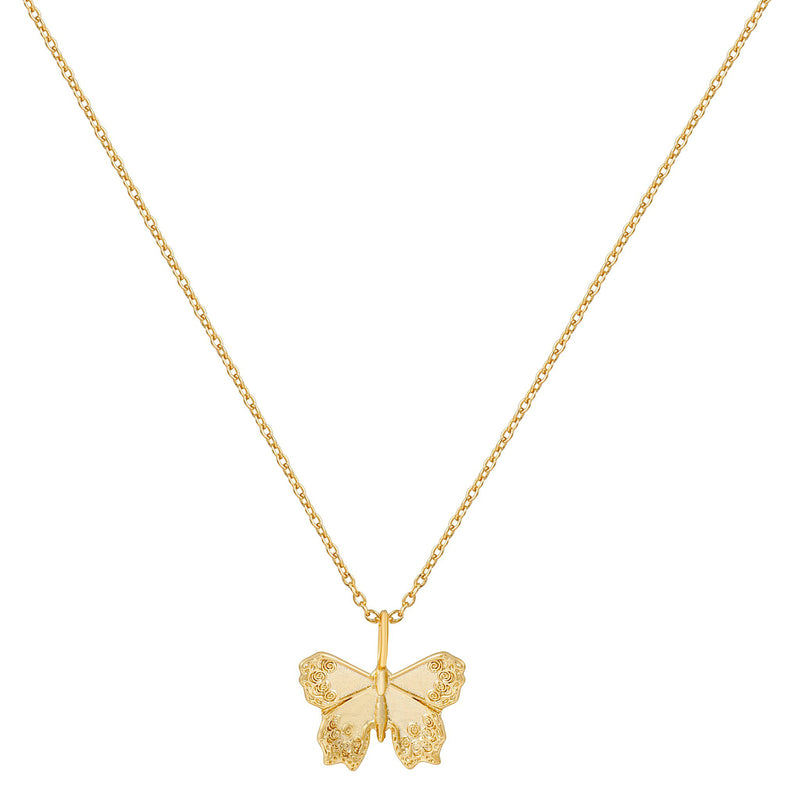 Mini Butterfly Necklace : Gold