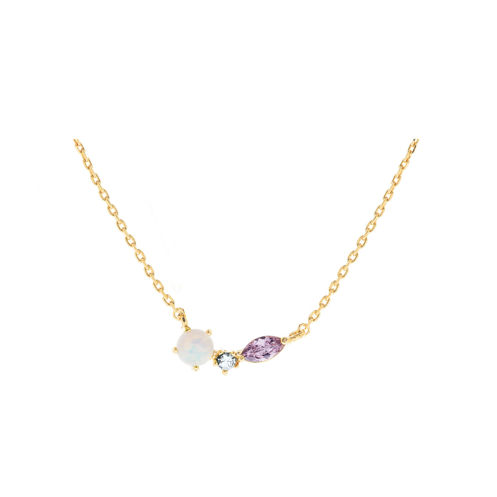 Autum Opal Necklace : Gold