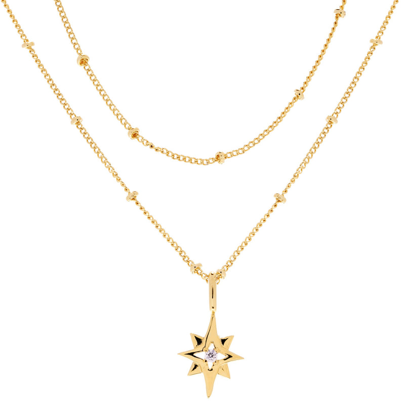North Star Layered Necklace : Gold