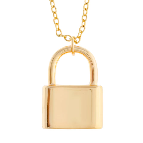 18K GP Lock Necklace