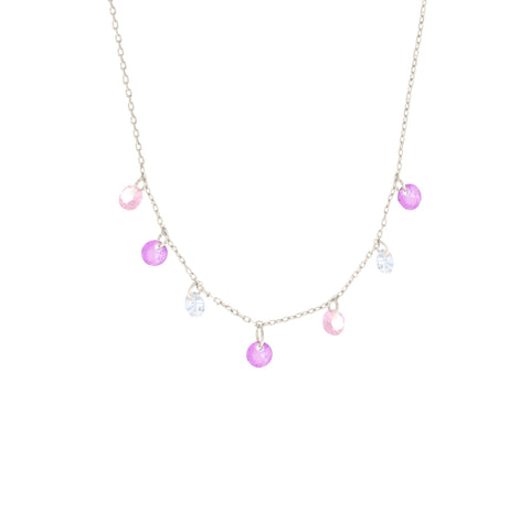Pink Dangle Necklace