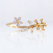 Crystal Garden Adjustable Ring