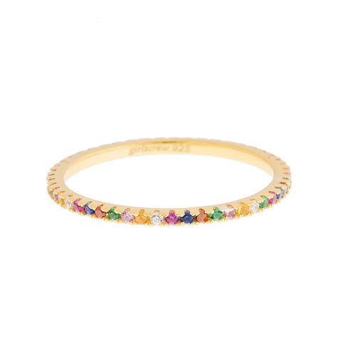 Rainbow Stack Ring