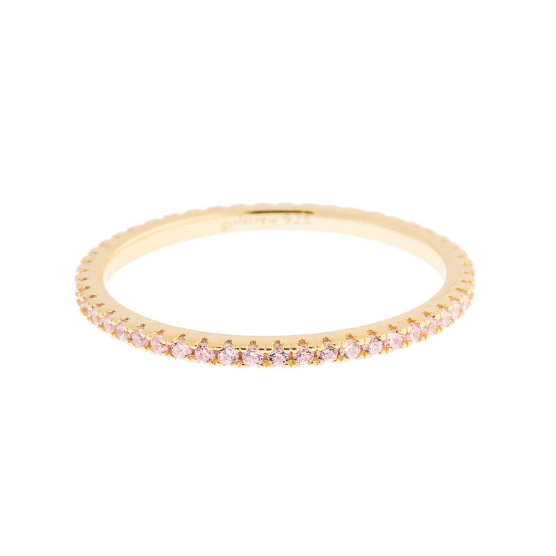 Palest Pink Stack Ring : Gold