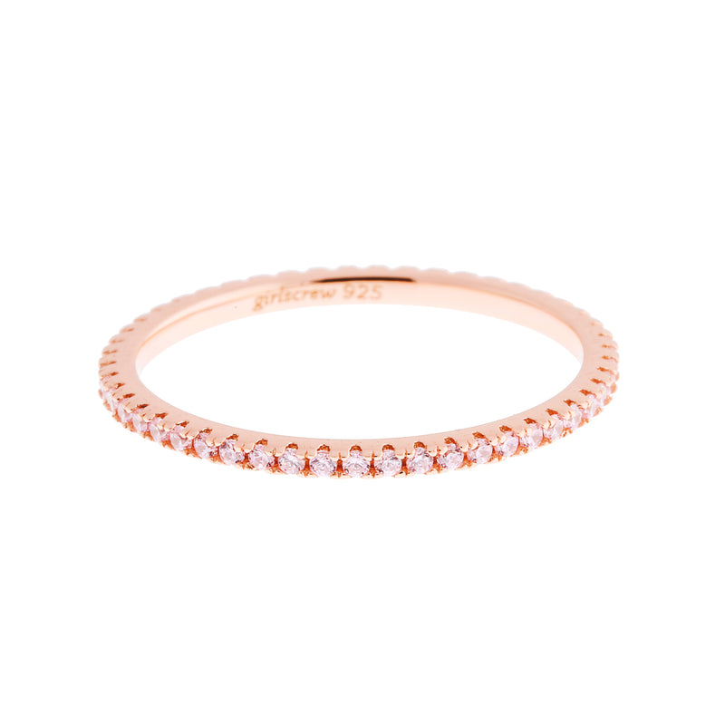Palest Pink Stack Ring : Rose Gold