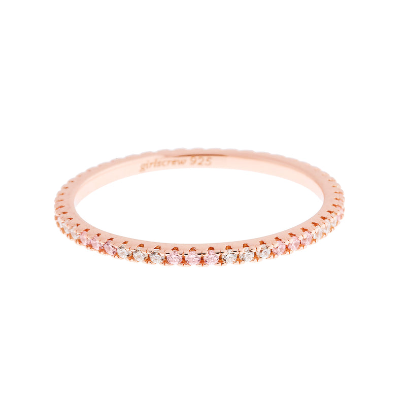 Pattern Palest Pink Stack Ring : Rose Gold