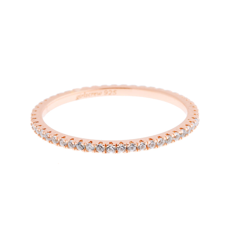 Sky Blue Stack Ring : Rose Gold