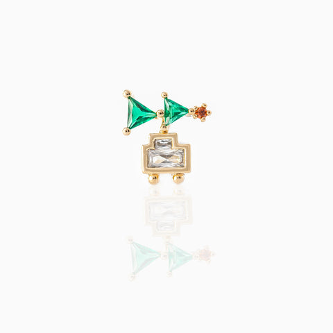 Christmas Tree Piercing Style Earring