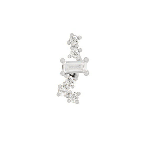 Crystal Ladder Piercing Style Earring