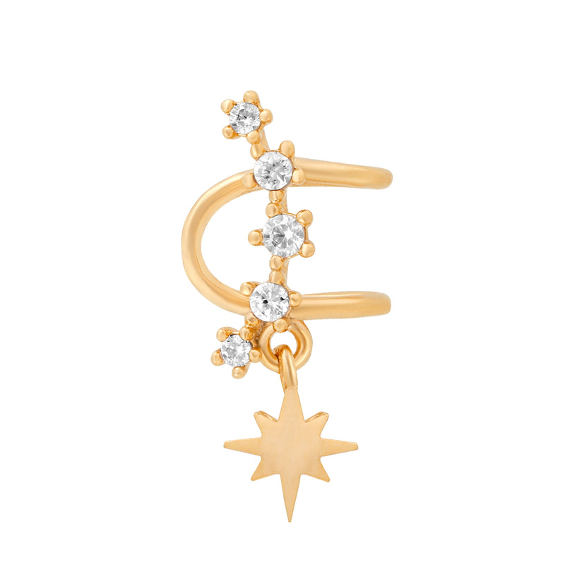 Shooting Star Ear Cuff : Gold