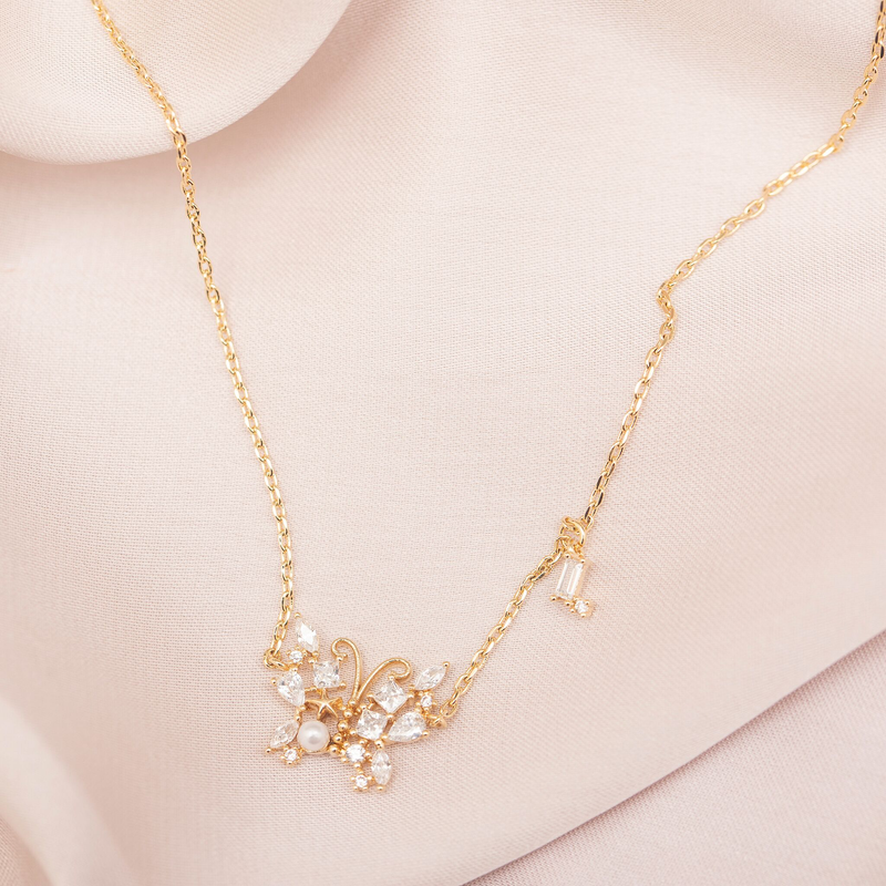 Enchanted Butterfly Necklace : Gold