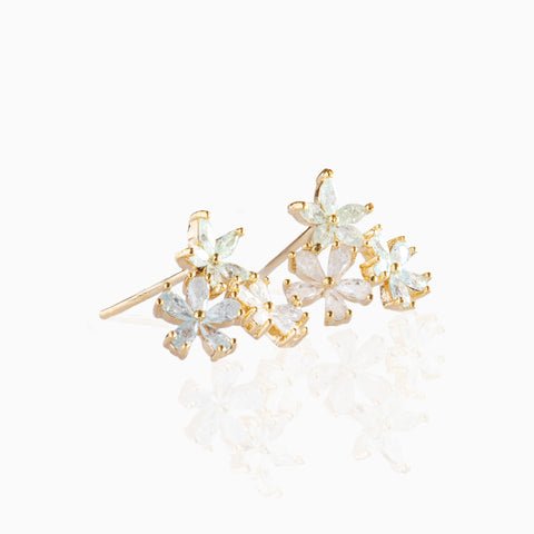 Blue Flower Bed Studs