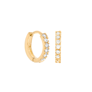 Cubic Mini Hoops : Gold