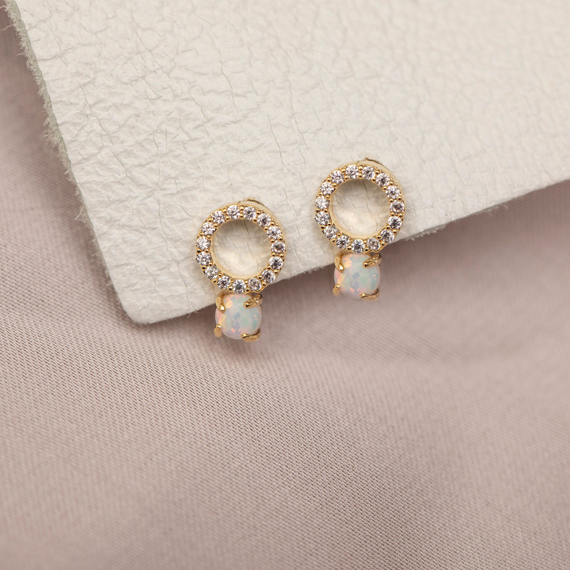 Ring Pop Opal Studs : Gold