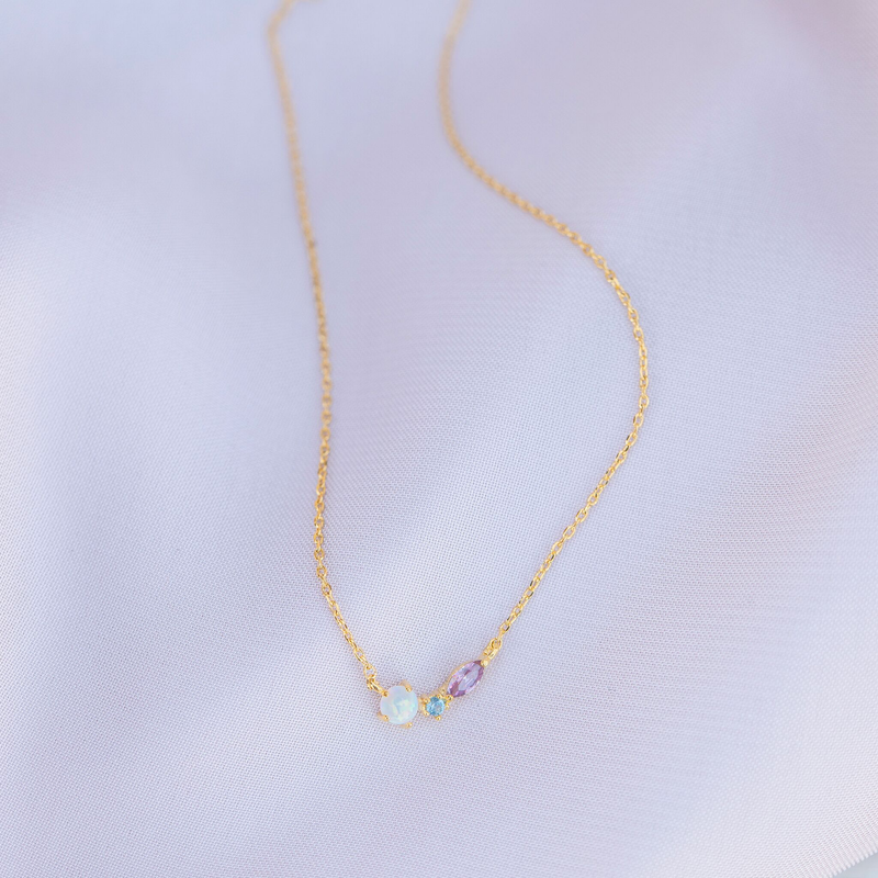 Autumn Opal Necklace : Gold