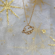 Saturn Necklace : Gold