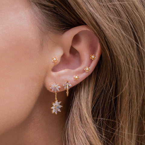 Teeny Tiny Flower Studs