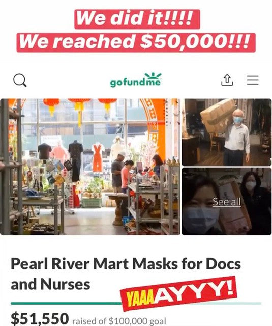 Pearl River Mart GoFundMe page
