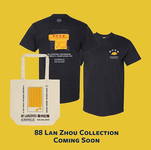 88 Lan Zhou T-shirt front and back and tote bag