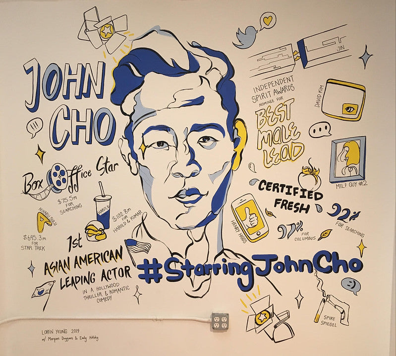 Awesome mural of John Cho