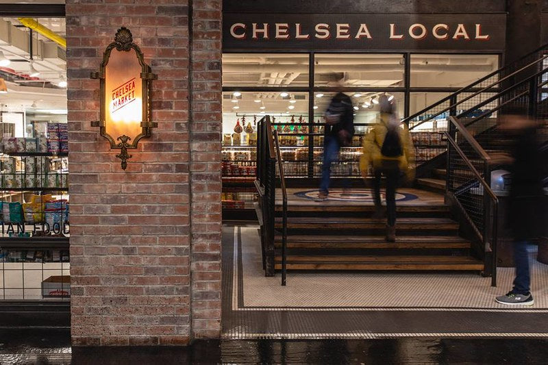 Outside the Chelsea Local, Chelsea Market's grocery store