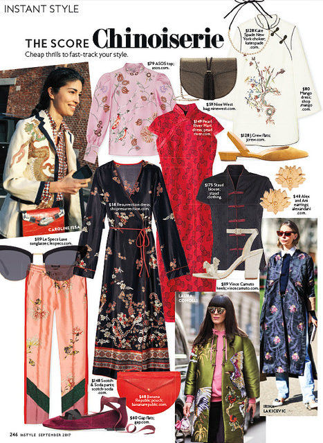 InStyle Magazine: Our Rose Print Mandarin Dress