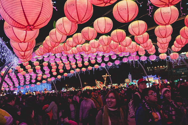 Gorgeous display of red lanterns during the Lantern Festival in Taiwan