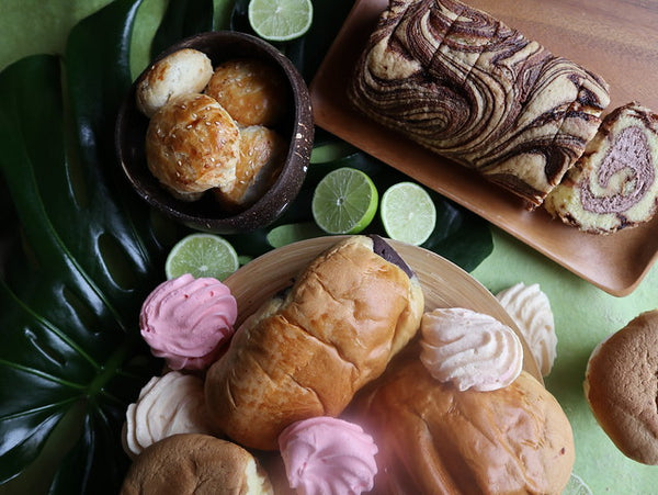 Array of Filipino breads