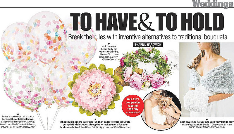 New York Post: Our Paper Flowers, An Inventive Wedding Bouquet