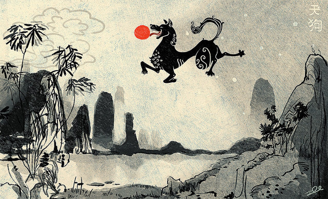 Fire Dogs and Angry Demons: Solar and Lunar Eclipse Myths from Asia