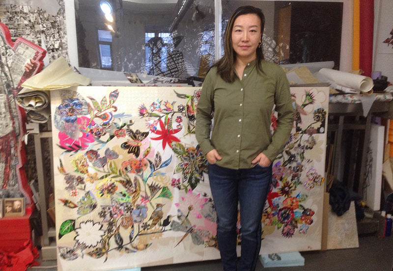 Artist-in-Residence Xin Song Sparkles: Her Modern Take on an Ancient Chinese Art