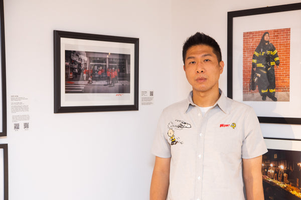 Photographer Antony Wong with his picture