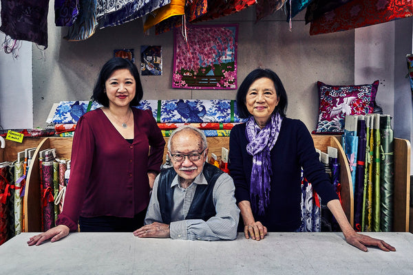 Pearl River president Joanne Kwong with owners Mr. and Mrs. Chen