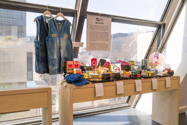 Pearl River display of products in an art exhibition for the Chinese Culture Center of San Francisco