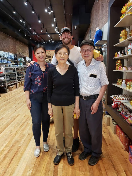Brandon Stanton with Joanne Kwong and the Chens