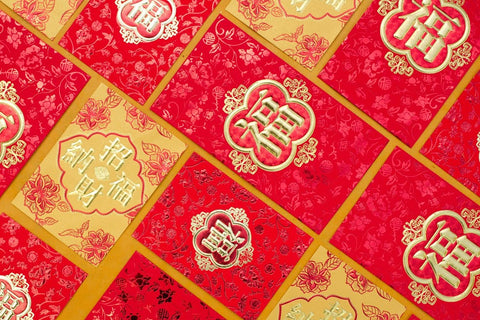 Layout of Lunar New Year red envelopes