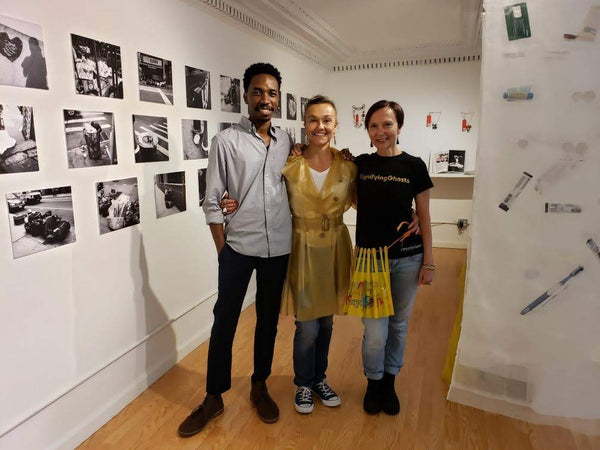 Photogapher Alfonso Sjogreen, jeweler Suzette Gabriel-Schoebitz, and coreographer Rafael Giovanola-Endrass