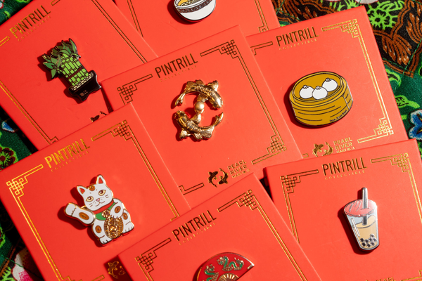 Collection of Pearl River x Pintrill pins