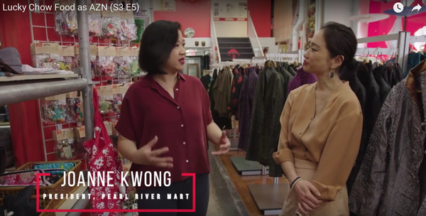 Joanne Kwong speaking with Danielle Chang, host of TV show Lucky Chow