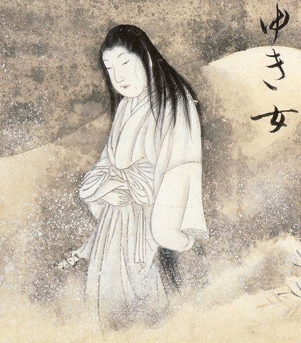 Japanese painting of mythical ghost, The Snow Woman