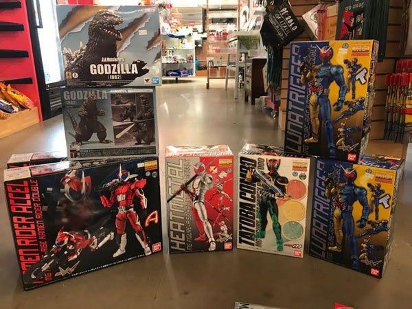 Display of action figure model kits