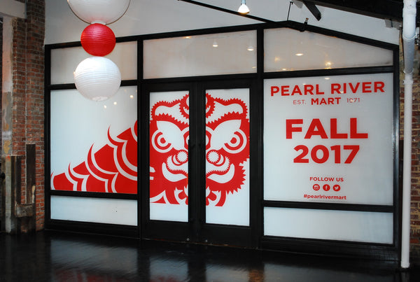 Window wraps of our Chelsea Market location