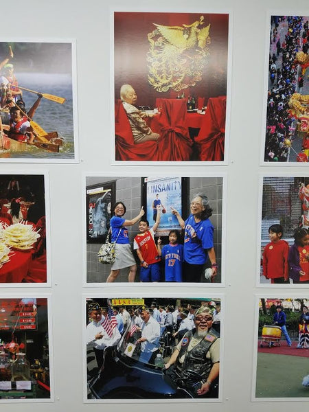 Variety of photos from Corky Lee's exhibit