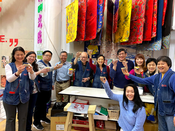 Pearl River staff celebrates Lung Moon bakery with egg tarts
